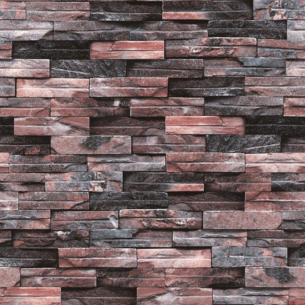 3D Multi colored Stone Brick Design Wallpaper WJ208 5