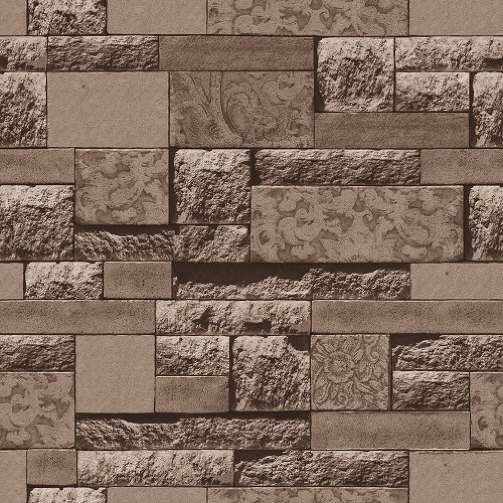 3D Wood Brick Stone Designs Vinyl Wallpaper WJ206 3