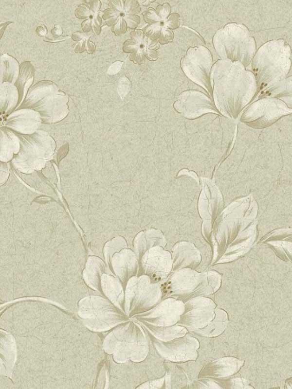 Grey White HAV40813 Elegant Trail Wallpaper